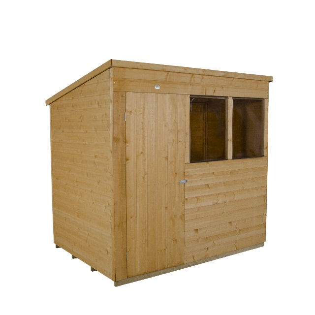 7x5 (1.53m x 2.09m) Forest Shiplap Pent Garden Shed