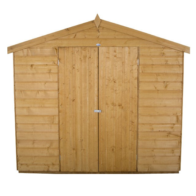 8x12 (3.72m x 2.46m) Forest Shiplap Apex Garden Shed (Double Door)
