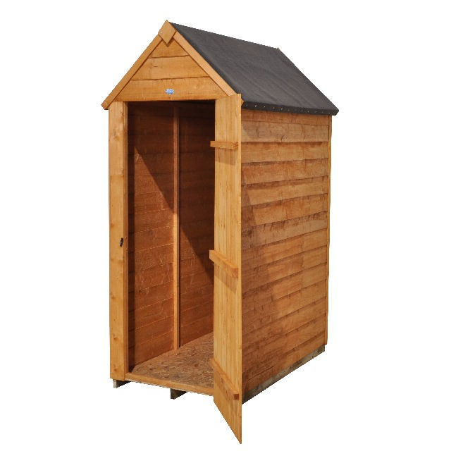 3 x 5 (0.99m x 1.56m) Forest Overlap Apex Garden Shed - No Windows