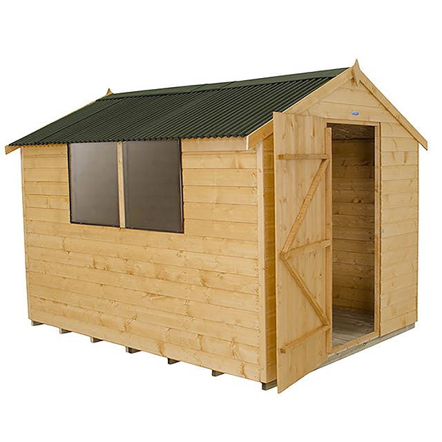 8 x 6 (2.40m x 1.89m) Forest Shiplap Apex Garden Shed - With Onduline Roof