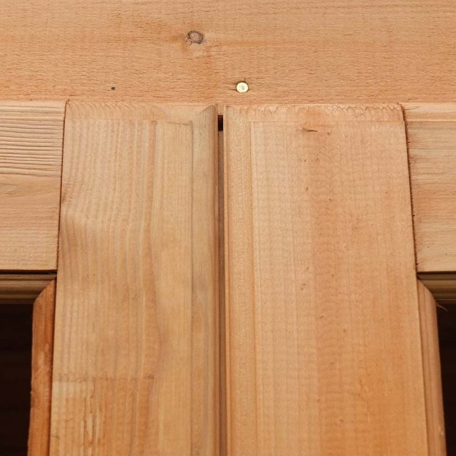 Shire Oatland Summerhouse - Detail fo joinery