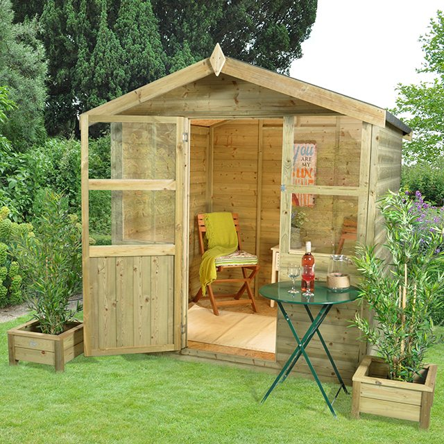 6 x 6 Forest Charlbury  Pressure TreatedShiplap Summerhouse