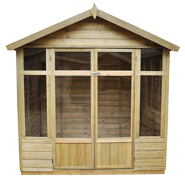 7 x 5 Forest Bloxham  Pressure Treated Shiplap Summerhouse - front view isolated