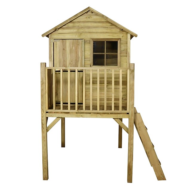 4 x 4 (1.2m x 1.2m) Forest Sage Tower Playhouse Pressure Treated