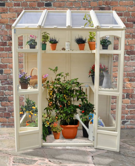 "4'10"" (1.47m) Wide Victorian Tall Wall Greenhouse"