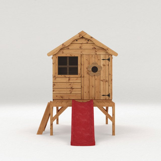 4 x 4 Mercia Snug Tower Playhouse with Slide - Floor plan showing tower