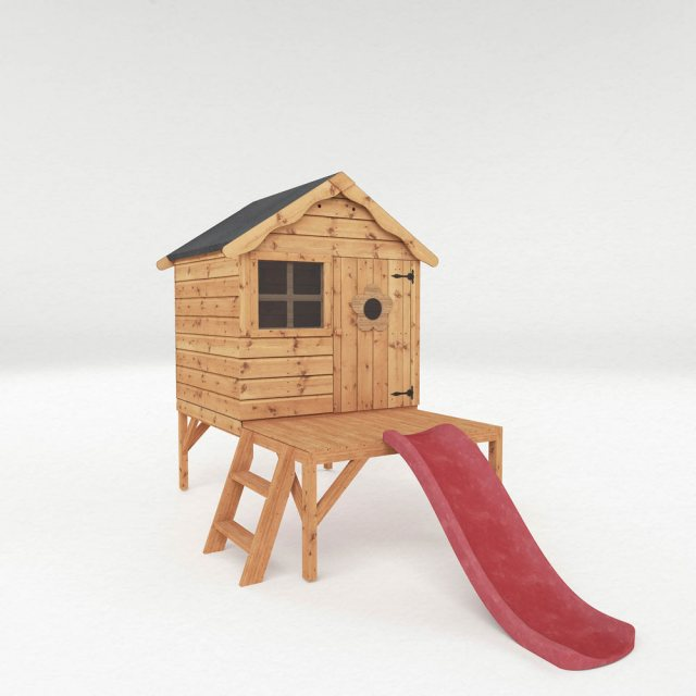 4 x 4 Mercia Snug Tower Playhouse with Slide - Dimensions