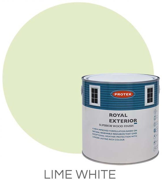 rotek Royal Exterior Paint 5 Litres - Lime White