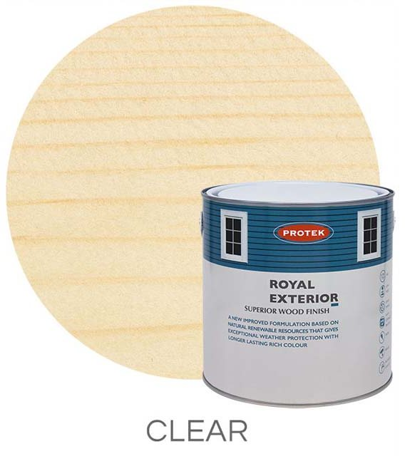 Protek Royal Exterior Paint 5 Litres - Clear