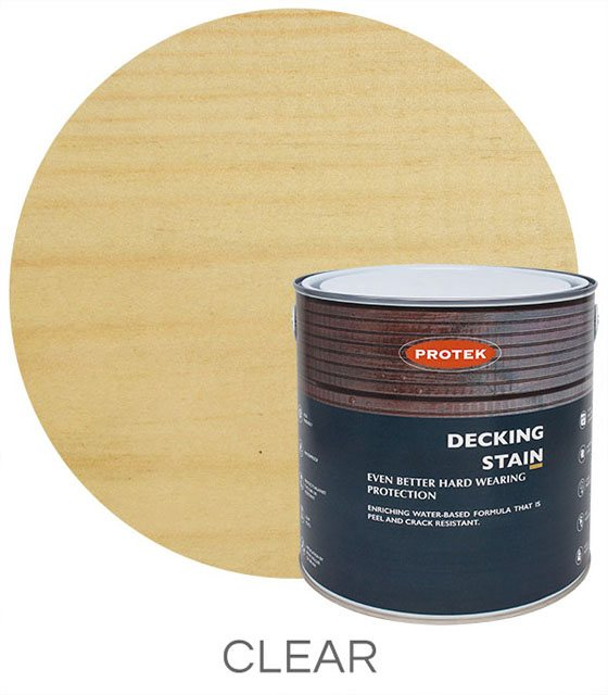 Protek Decking Stain 2.5 Litres - Clear