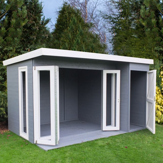 12x8 Shire Aster Summerhouse with Side Storage