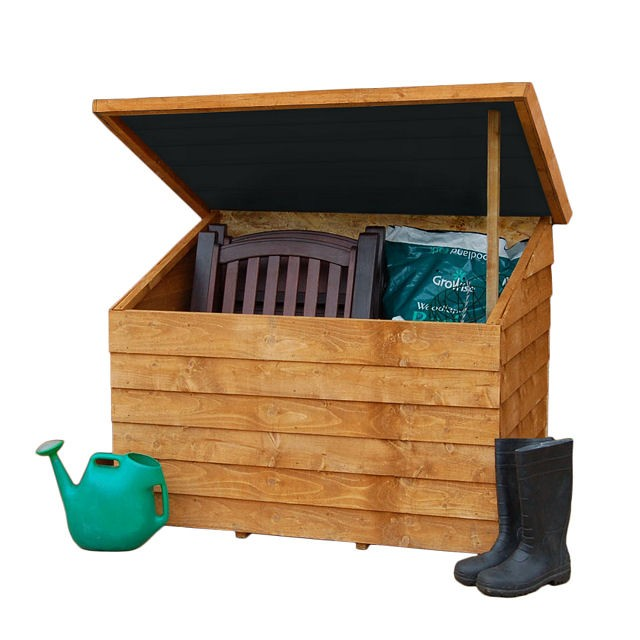 4 x 3 (1.30 x 0.89m) Forest Overlap Tool Chest with Easy Fit Roof