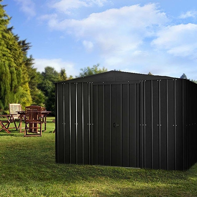 10 x 7 Lotus Apex Metal Shed in Anthracite Grey