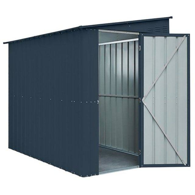 5 x 8 Lotus Lean-To Metal Shed in Anthracite Grey