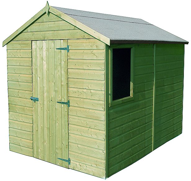 8 x 6 Shire Durham Shiplap Pressure Treated Shed