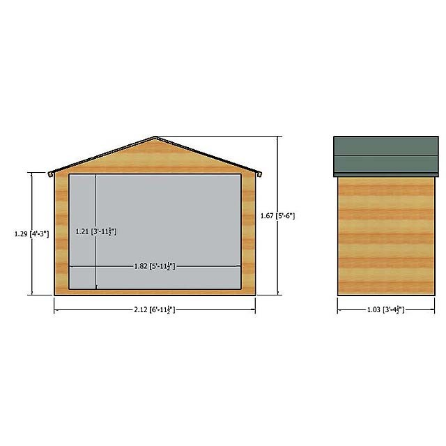Dimensions of the Shire Shiplap Bike Store