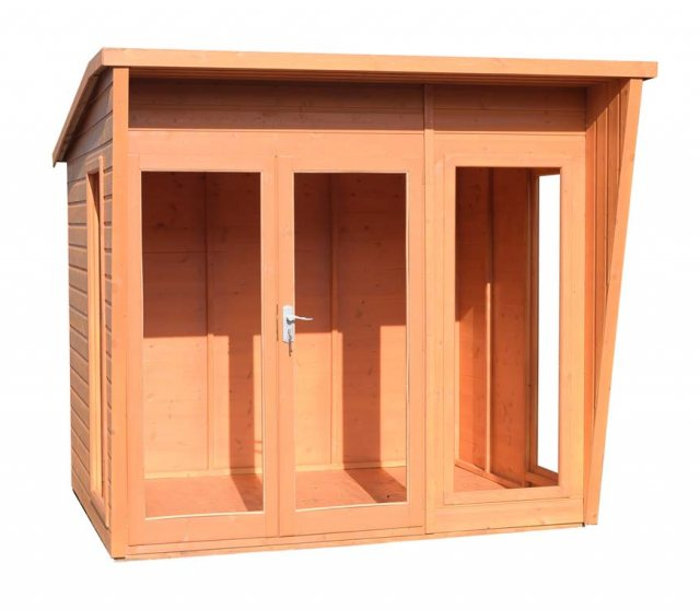 8 x 8 Shire Highclere Summerhouse - Doors closed with tilted view