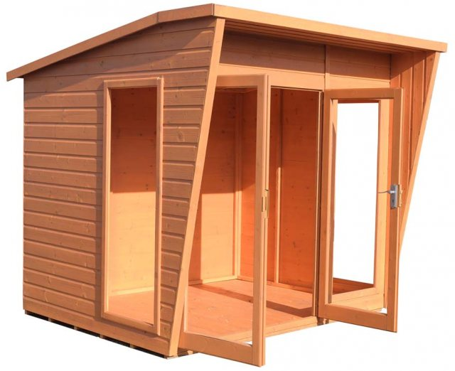 8 x 8 Shire Highclere Summerhouse - Doors open