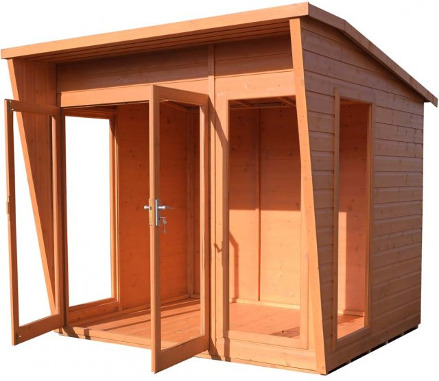 8 x 8 Shire Highclere Summerhouse - Side view