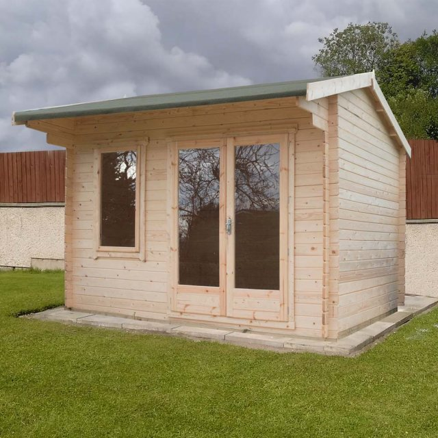 8 x 12 Shire Marlborough Log Cabin available for quick delivery