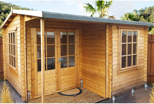 Quick Delivery 12G x 18 Shire Ringwood Log Cabin