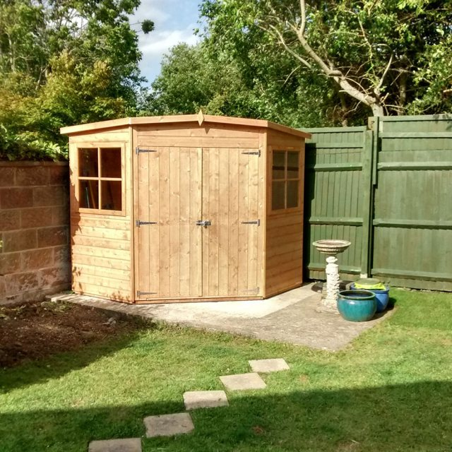 8 x 8 Shire Tongue and Groove Corner Shed - Pressure Treated - floor plan
