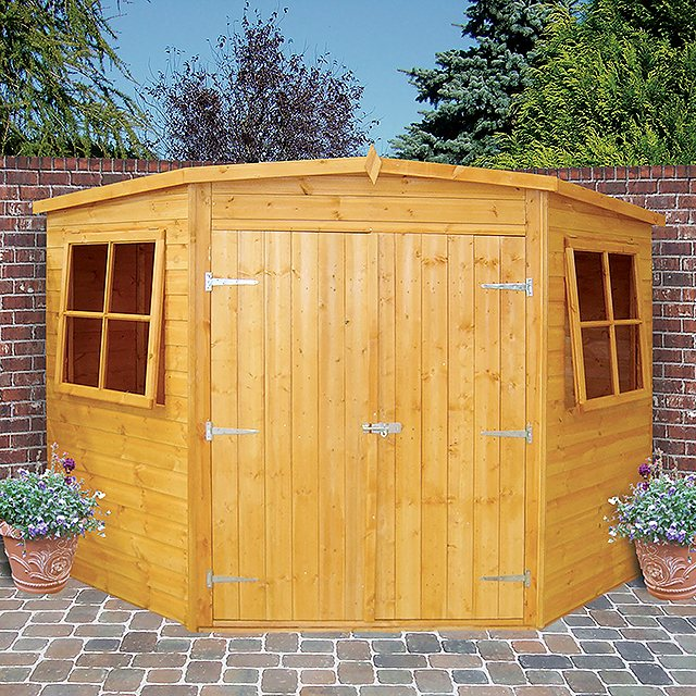 Shire 10 x 10 (2.99m x 2.99m) Shire Tongue and Groove Corner Shed