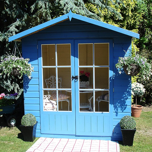 Shire 7 x 5 (2.05m x 1.55m) Shire Lumley Summerhouse