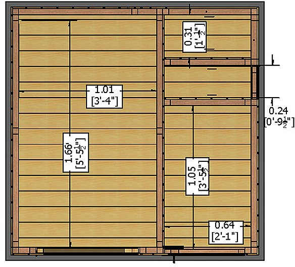 Shire 6 x 6 (1.79m x 1.79m) Shire Tongue and Groove Multi Store