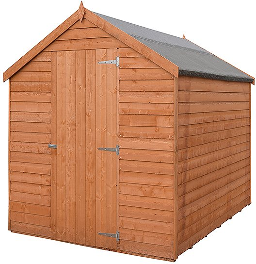 8 x 6 Shire Value Overlap Shed - Windowless - partial side view