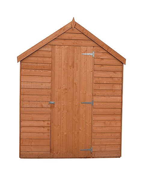 8 x 6 Shire Value Overlap Shed - Windowless - front view