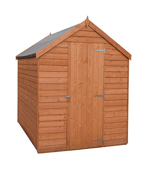 8 x 6 Shire Value Overlap Shed - Windowless - angled front view