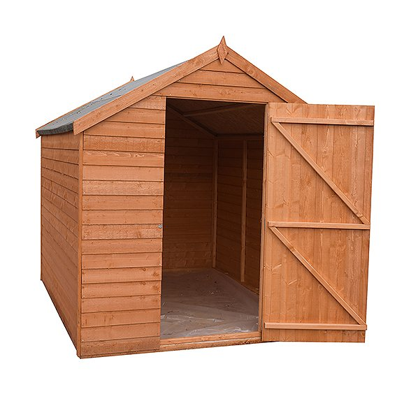 8 x 6 Shire Value Overlap Shed - Windowless - with door open