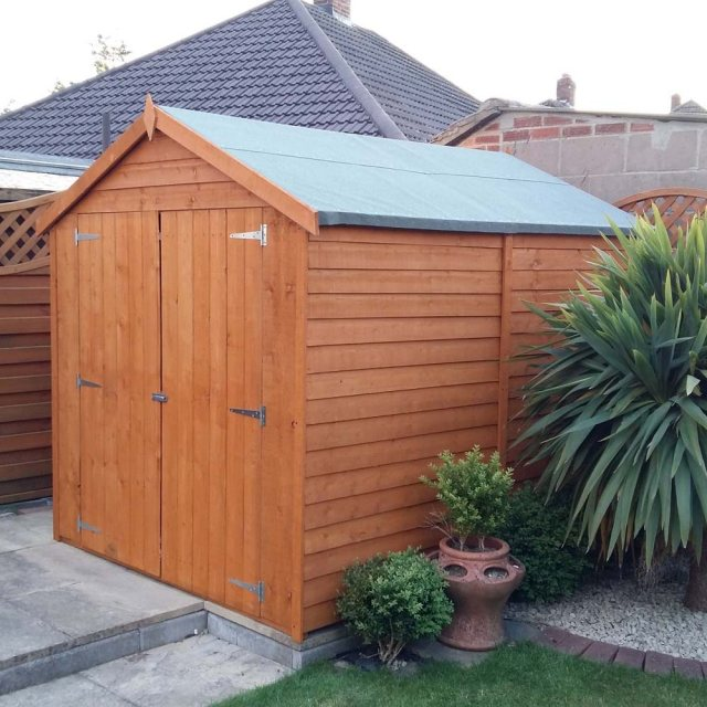 8 x 6 Overlap Windowless Shed with Double Door