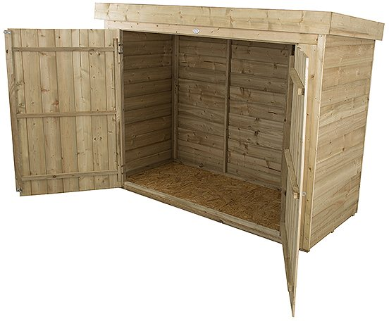 Forest Garden 6 x 3 (1.86m x 0.78m) Forest Large Pent Outdoor Store - Pressure Treated
