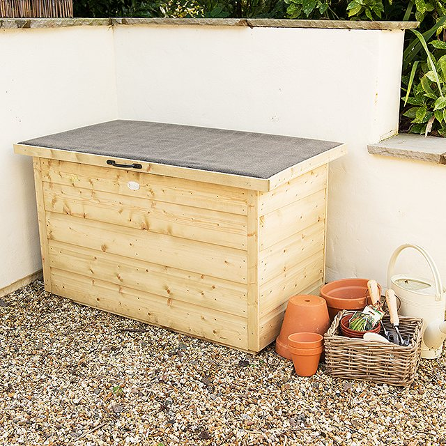 3 x 2 Pressure Treated Forest Shiplap Garden Storage Box with Lifting Lid