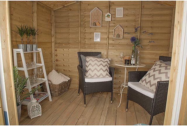 Forest Garden 8 x 6 (2.46m x 1.91m) Forest Oakley Summerhouse - Pressure Treated