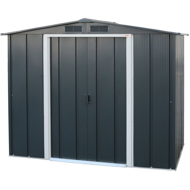 6 x 4 Sapphire Apex Metal Shed in Anthracite Grey