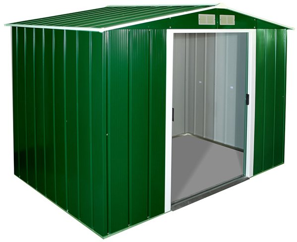 8 x 6 Sapphire Apex Metal Shed in Green