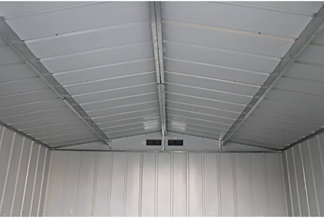Sapphire 8 x 8 (2.52m x 2.32m) Sapphire Apex Metal Shed in Anthracite Grey