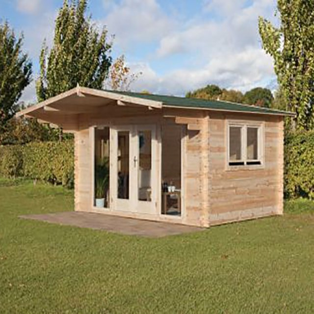 13 x 10 Forest Abberley Log Cabin - 34mm logs