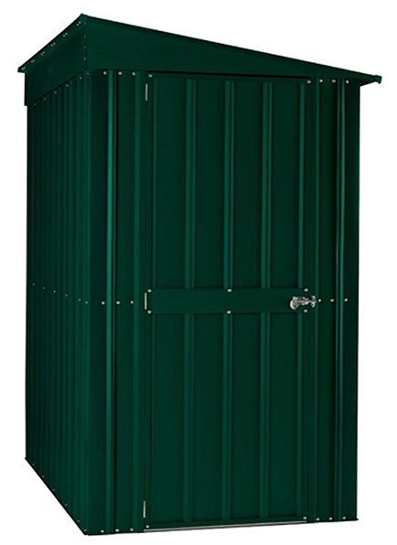 4 x 8 Lotus Lean-To Metal Shed in Heritage Green