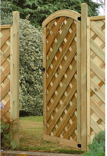 6ft High Forest Dome Gate - Pressure Treated