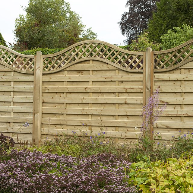 5ft High Forest Prague Fence Panels Pressure Treated