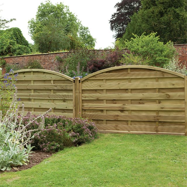 "3ft 7"" High Forest Domed Fence Panels - Pressure Treated"