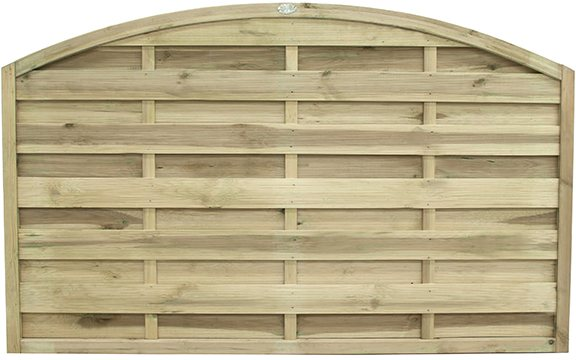 "3ft 7"" High Forest Domed Fence Panels - Isolated view"