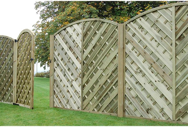 6ft High (1800mm) Forest Europa Bradville Fence Panels and Gate