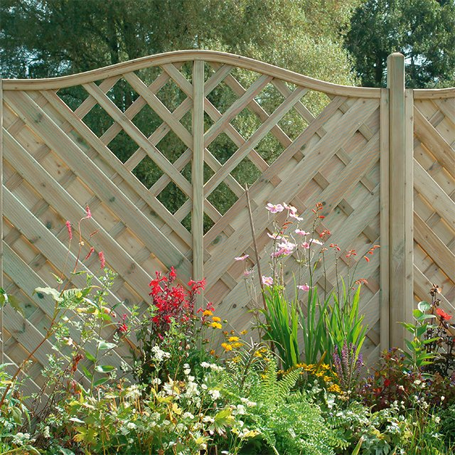 6ft High (1800mm) Forest Europa Vienna Fence Panels - Pressure Treated