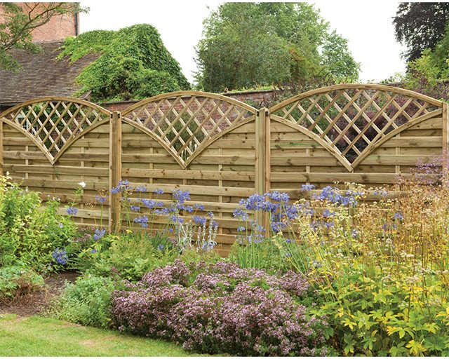 6ft High (1800mm) Forest Europa Finedon Fence Panels - Pressure Treated