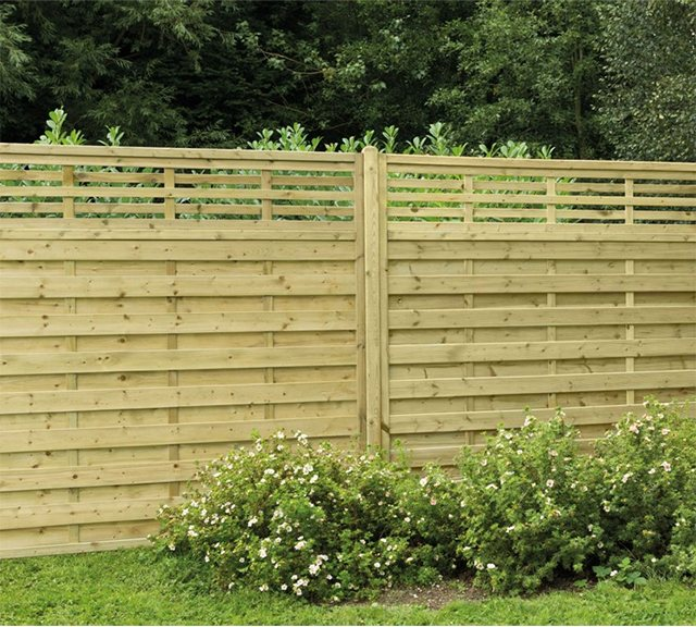 6ft High (1800mm) Forest Europa Kyoto Fence Panels